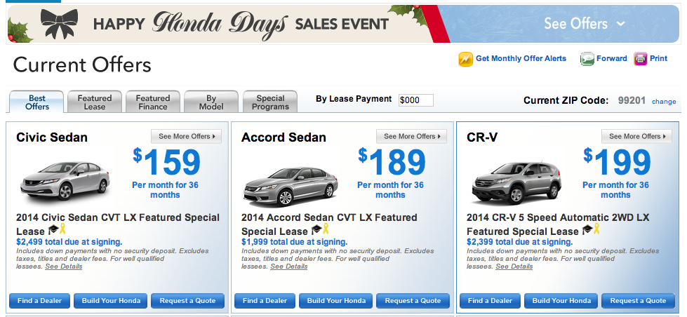 Happy Honda Days Sales Event 2014 The Lates New Honda Models