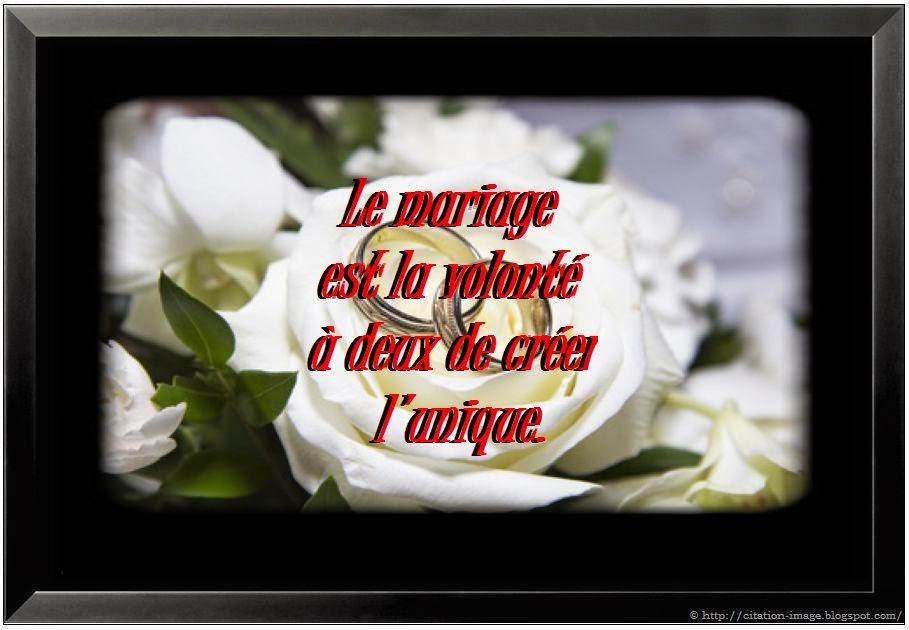 Citation sur le mariage en image