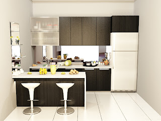 kitchen set, kitchen set murah, finishing hpl, kitchen set modern, meja pantri