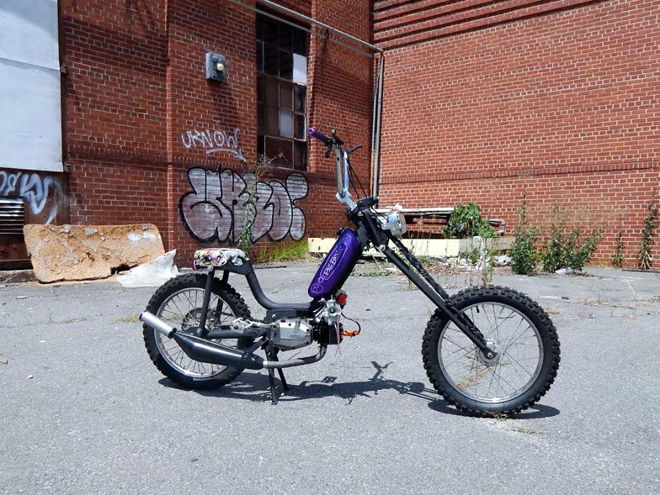 two-stroke moped chopper