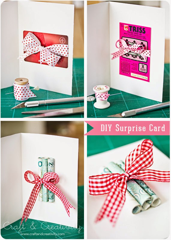 DIY Surpise Card by Craft & Creativity - and lots of other creative ways to give money, too!