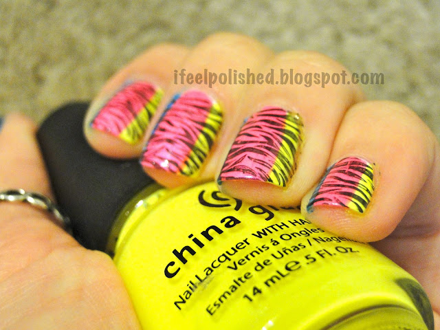 Neon Zebra Stripes