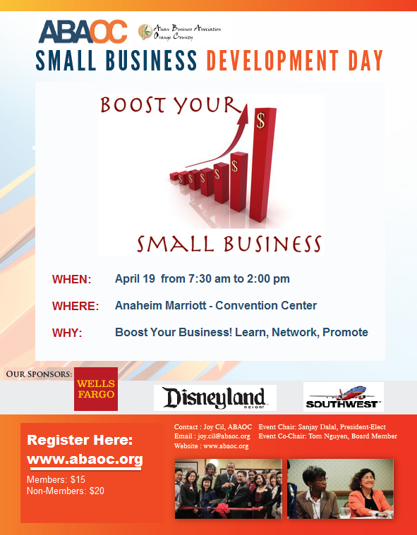 ABAOC Small Business Day - April 19, Anaheim