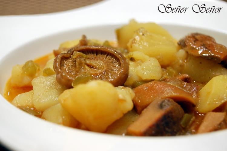 Patatas Con Níscalos Receta De Sergio