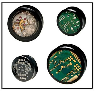 Chip Ear Plug Circuit Clockwork Alargador Acessório