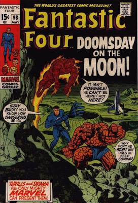 Fantastic Four #98, the Sentry returns, Neil Armstrong and the first moon landing