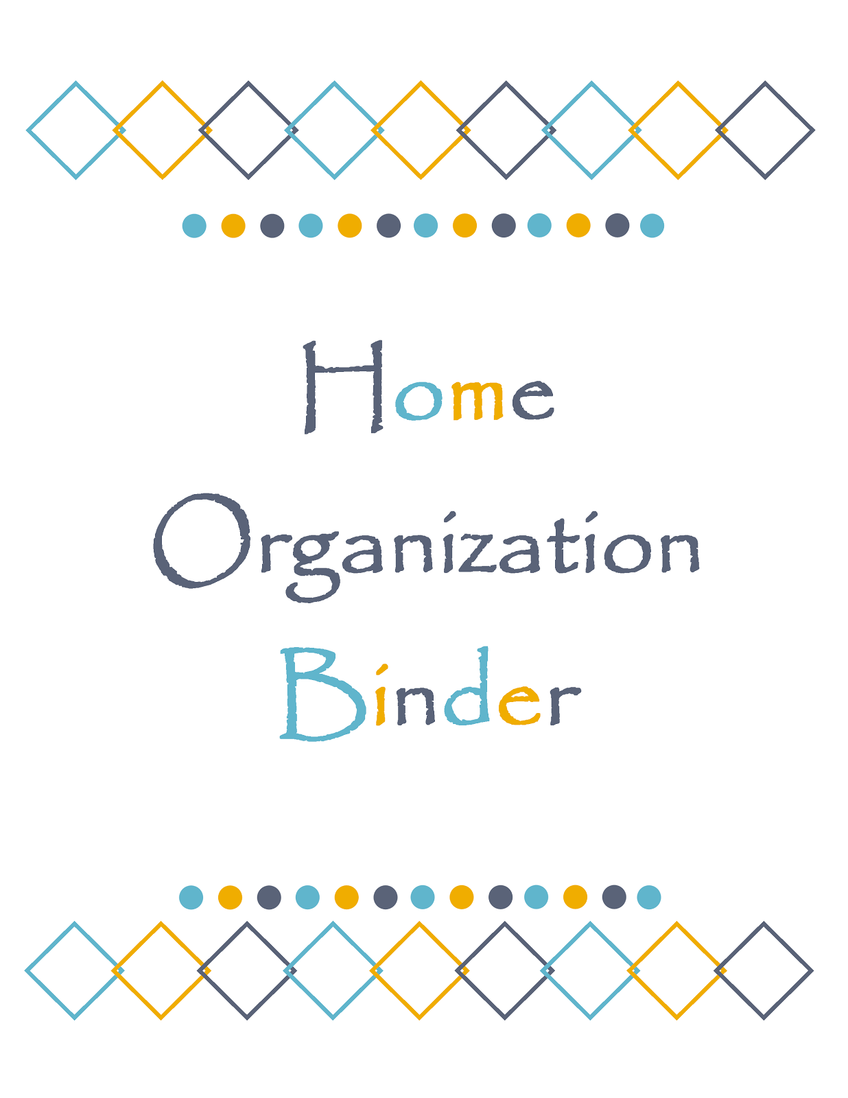 Printable Binder Cover Templates