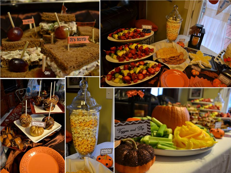 fall themed baby shower food fall baby shower food ideas