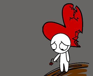 Gambar Kartun Patah Hati