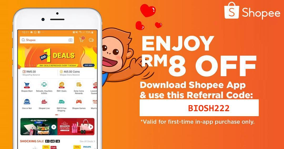 Use my referral code BIOSH222 to get RM8.00 off off your first purchase!
