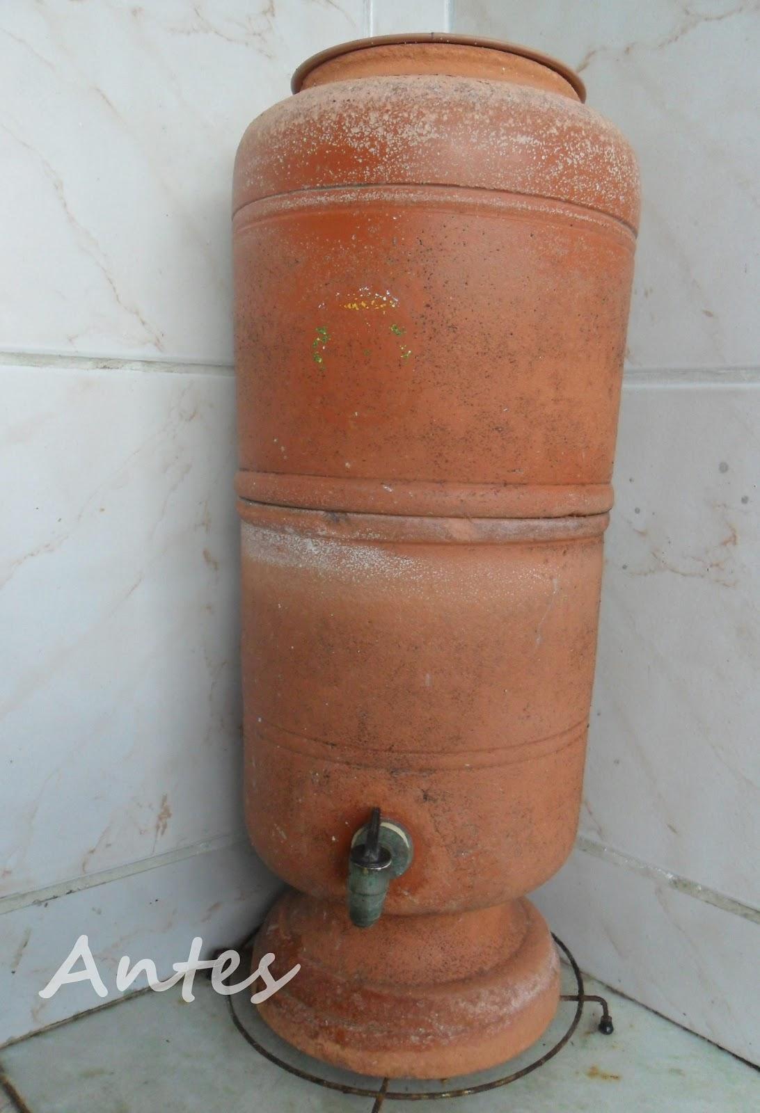 Well-known Artes da Pró Lú: Reformando um filtro de água de barro, e fazendo  PC79