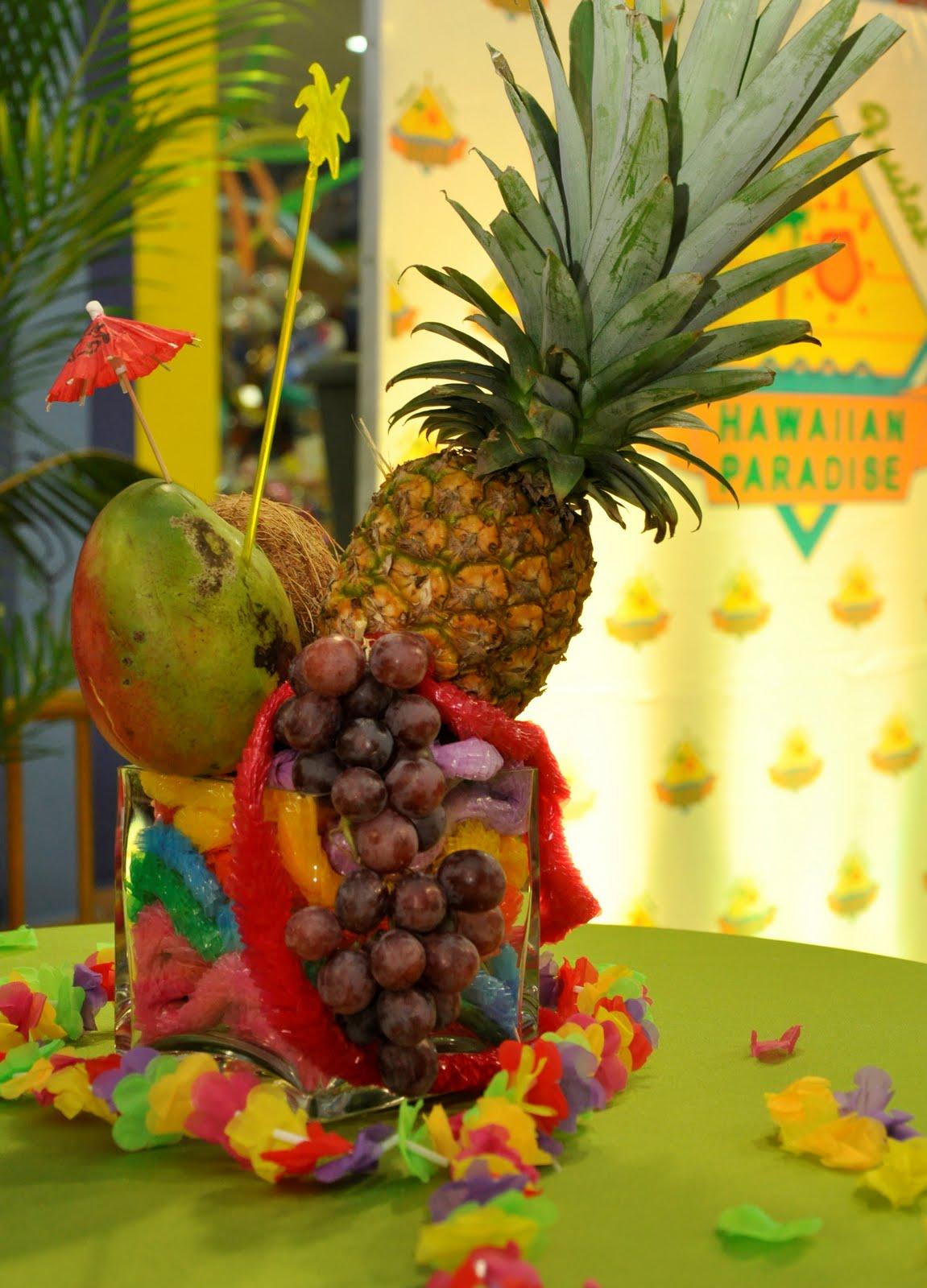 Decoraciones De Frutas Para Fiesta Hawaiana