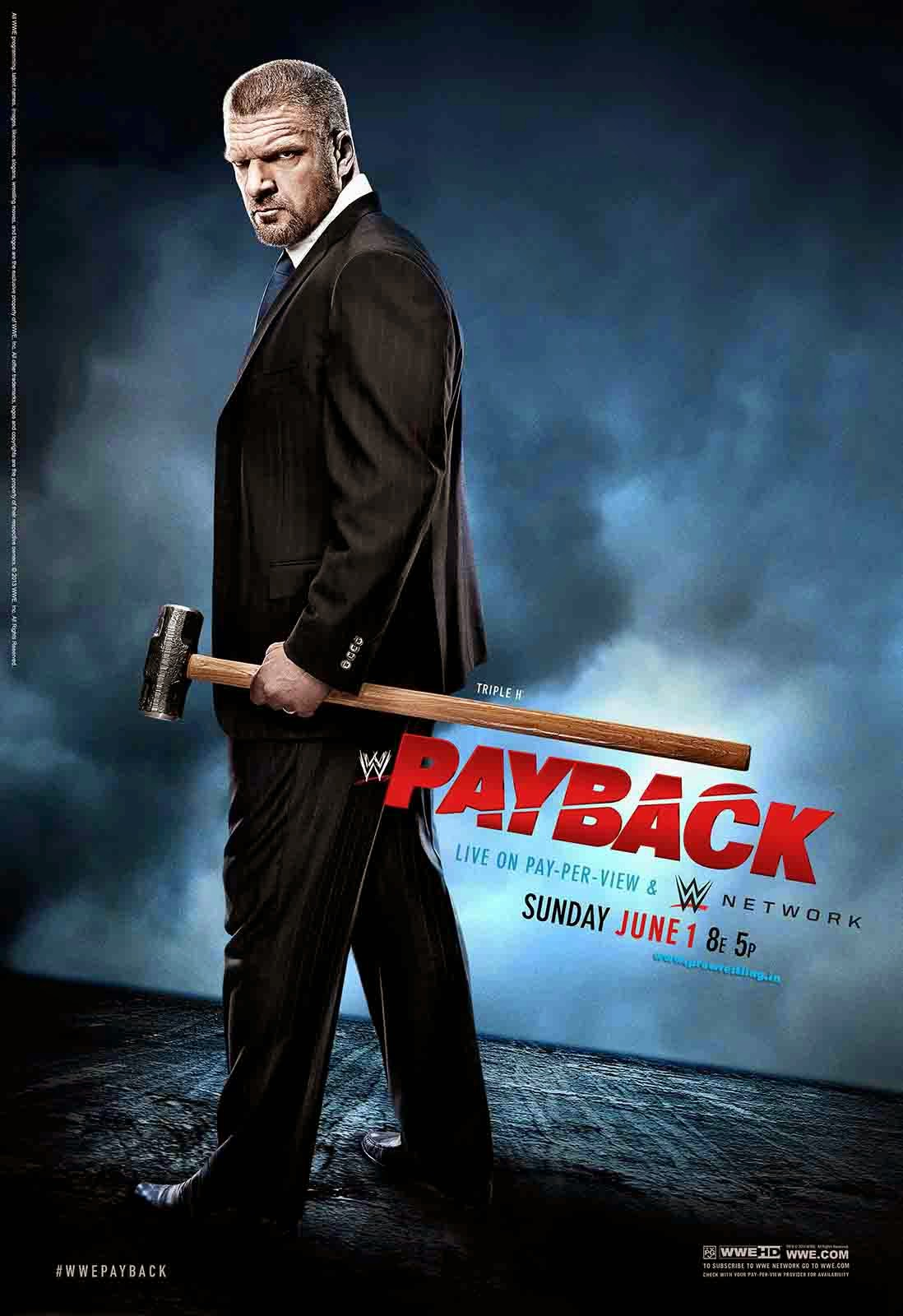 Download WWE Payback 2014 HQ Official Poster (feat. Triple-H) - 3000px