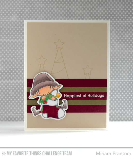 Happiest Holiday Elf Card by Miriam Prantner featuring the Birdie Brown Santa's Elves stamp set and Die-namics #mftstamps