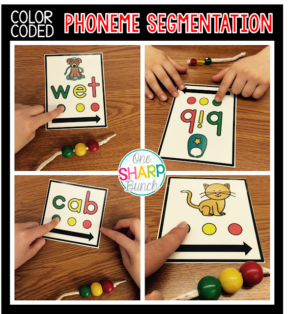 Phoneme segmentation and blending is easy with color coded hands-on CVC Sliders!