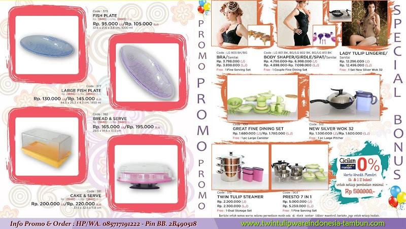 Promo Diskon & Special Bonus Tulipware Mei - Juni 2015