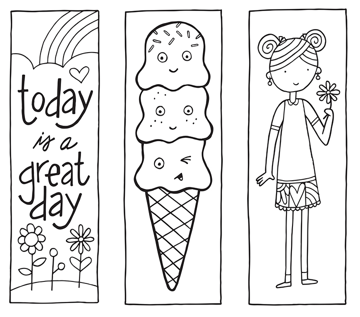 Printable Coloring Bookmarks Free : Printable bookmarks from http spotgirl hotcakes spot