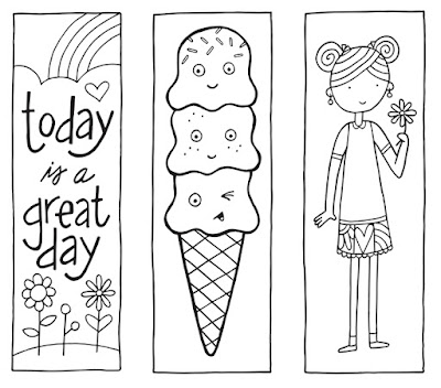 coloring pages of bookmarks - photo#33