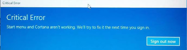 Cara mengatasi Kesalahan Windows 10  dengan Start Menu dan Cortana.