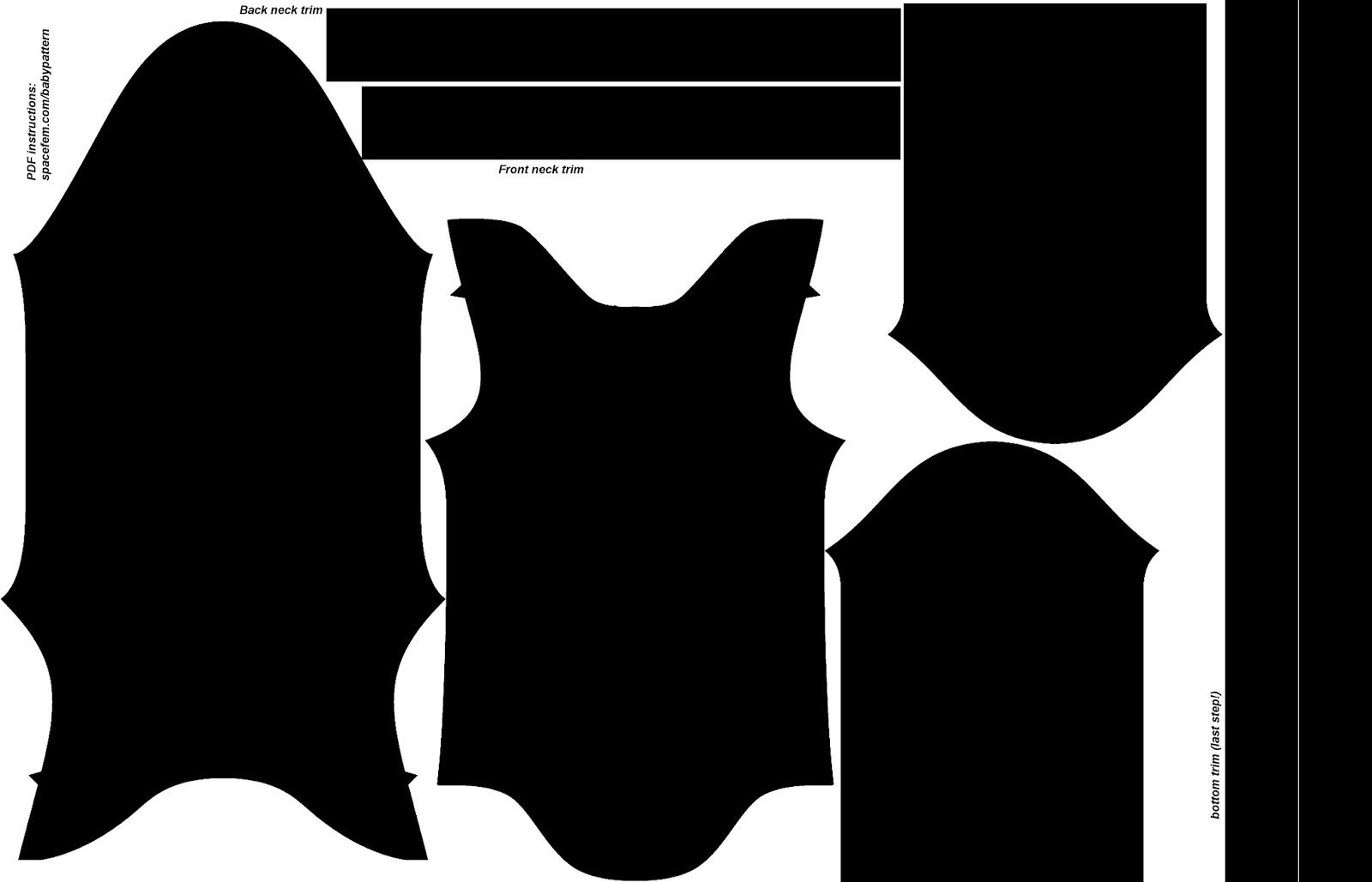 Baby Onesie Template | Spacefem Design Your Own Baby Onesie
