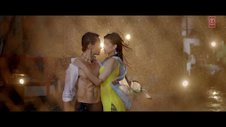 Kriti sanon and Tiger Shroff Hot Wet Photos from Heropanti Movie 2014