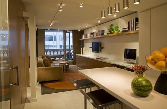 de la salle de séjour, puis une cuisine ouverte et un ensemble petite  salle à manger compléter tout le mobilier nécessaire dans votre espace de  vie.
