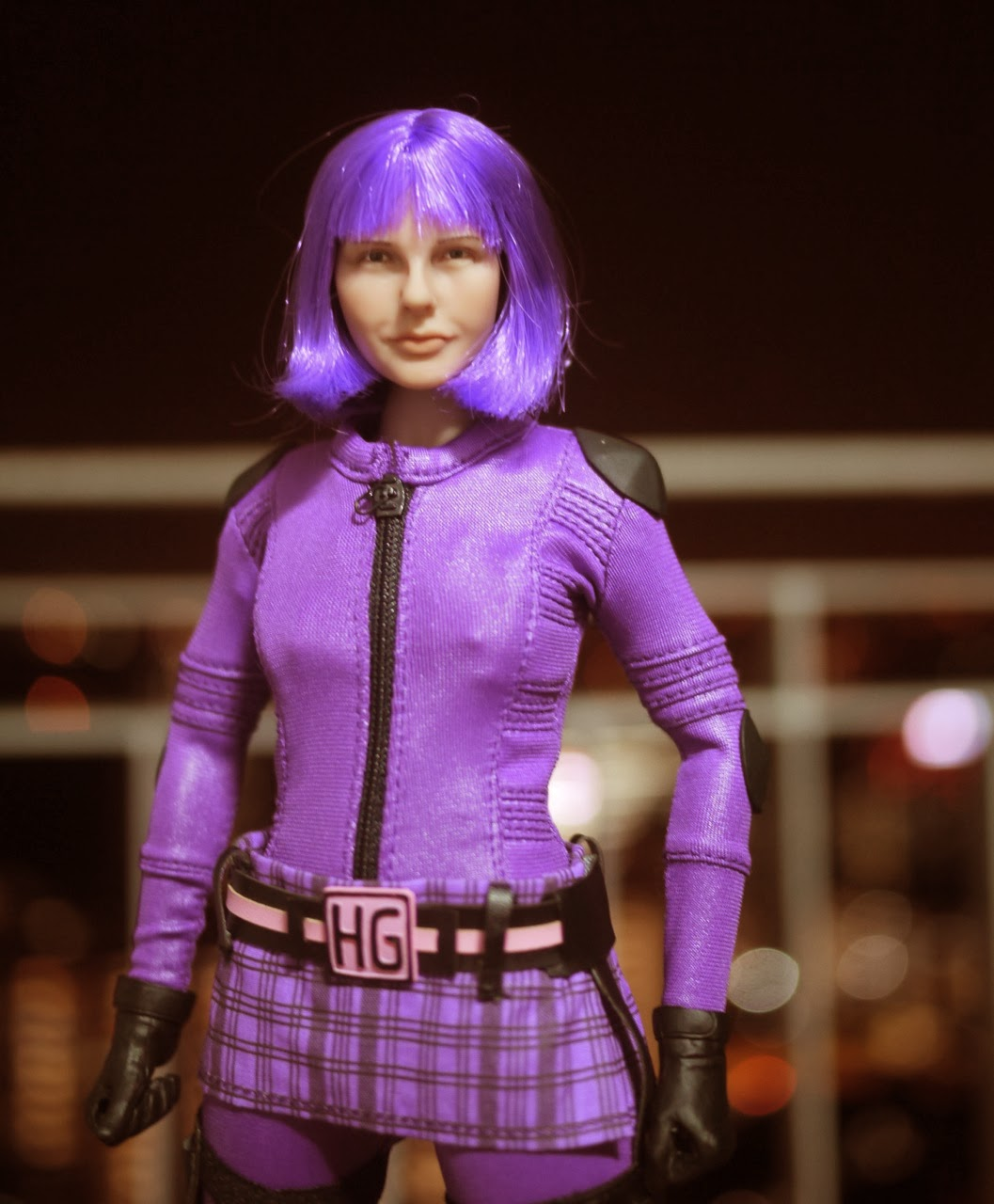 Female Figures Purple Hit Girl