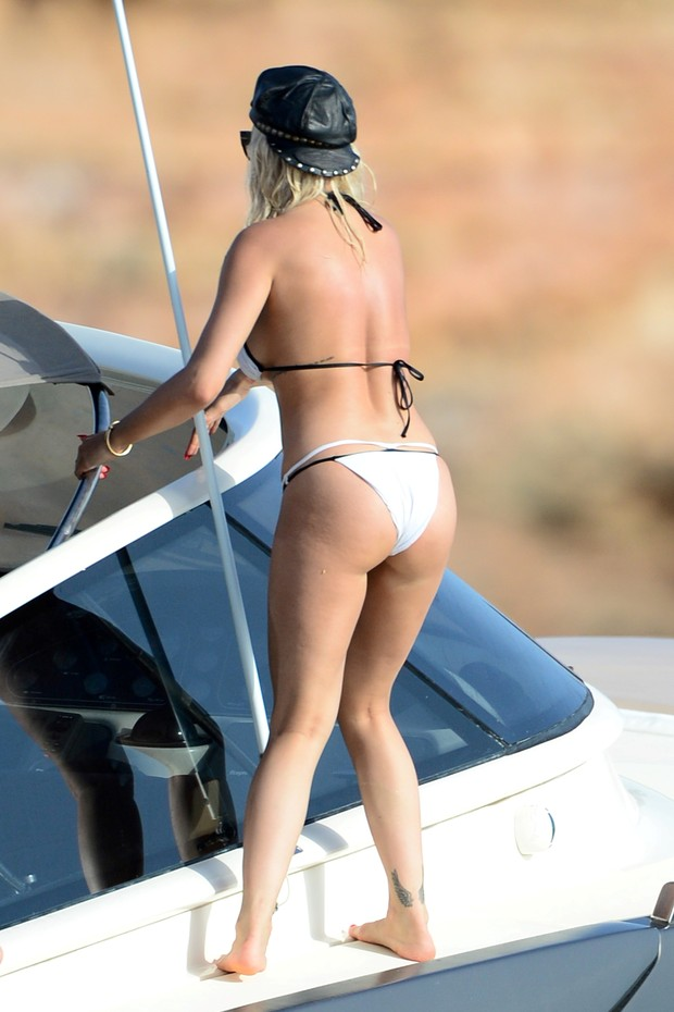 Rita Ora was photographed enjoying beach paradise in Spain