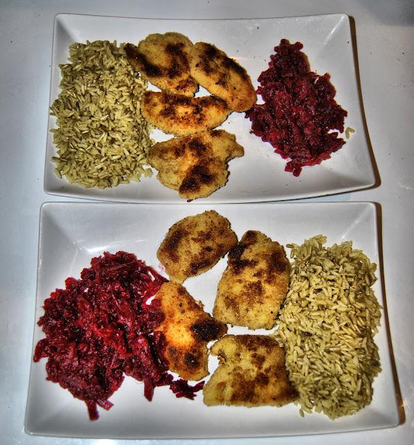 Kotlety sojowe z buraczkami i ryżem naturalnym, zdrowe kotlety, tanie kotlety sojowe