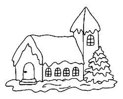 Desenho 2 - Casa para colorir.