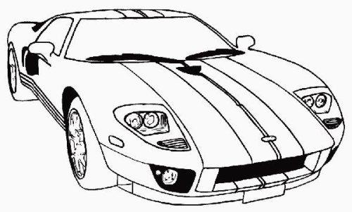 Desenhos de Carros - Colorir e Pintar