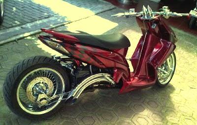 Honda Vario 125 modifikasi Lowride Terbaru