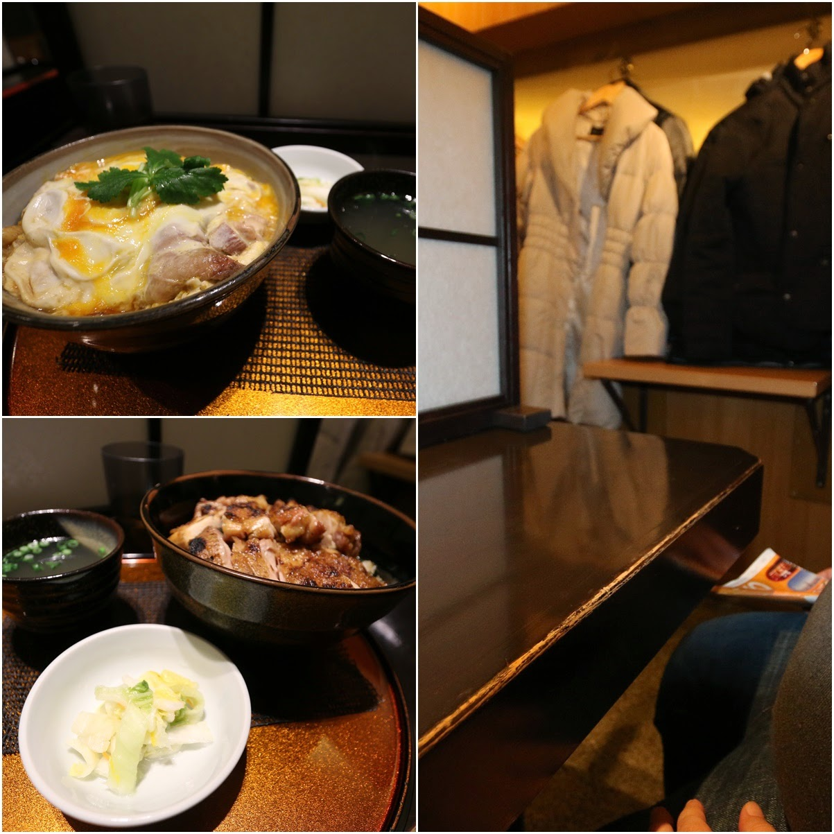 Restaurants ensure customers enjoy their privacy and comfort during their meals by placing a divider on the table while sharing the table besides hanging your coat in front of your table in Tokyo, Japan