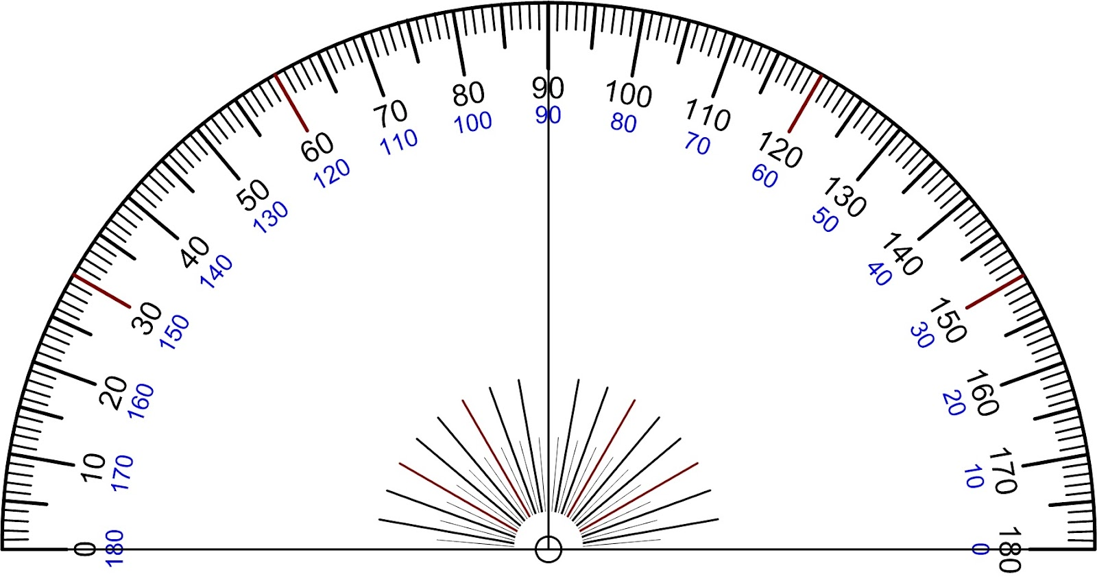 Modest image in protractor printable
