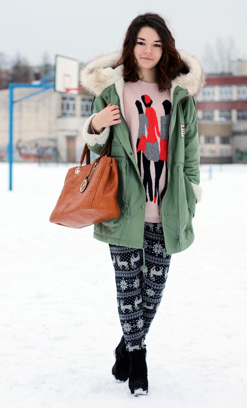 norweskie wzory legginsy