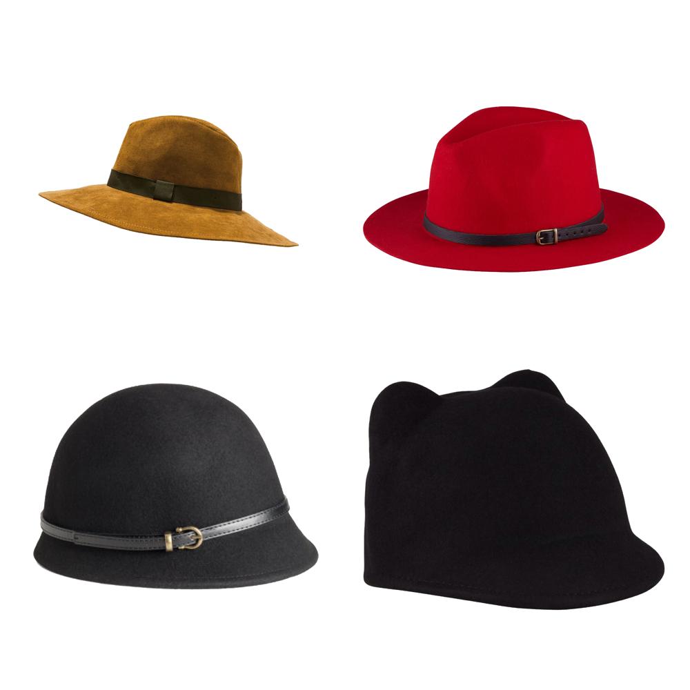 Les accessoires de l'automne chapeaux