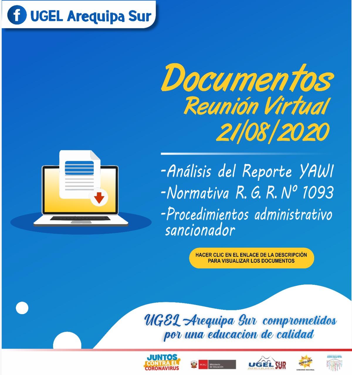 Documentos reunión directores IIEE Viernes 21 agosto 2020