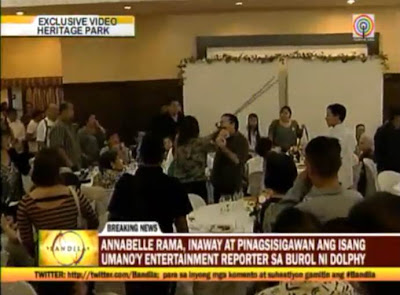 Annabelle Rama caught on cam trying to hit reporter Chito Alcid with a mic stand