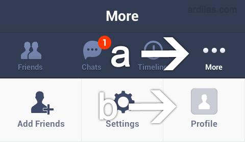 Halaman more - Cara Menghapus / Delete Akun Line - Android