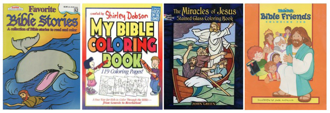 Left To Right Favorite Bible Stories Published By KAPPA Graphics LP My Coloring Book Shirley Dobson Focus On The Family