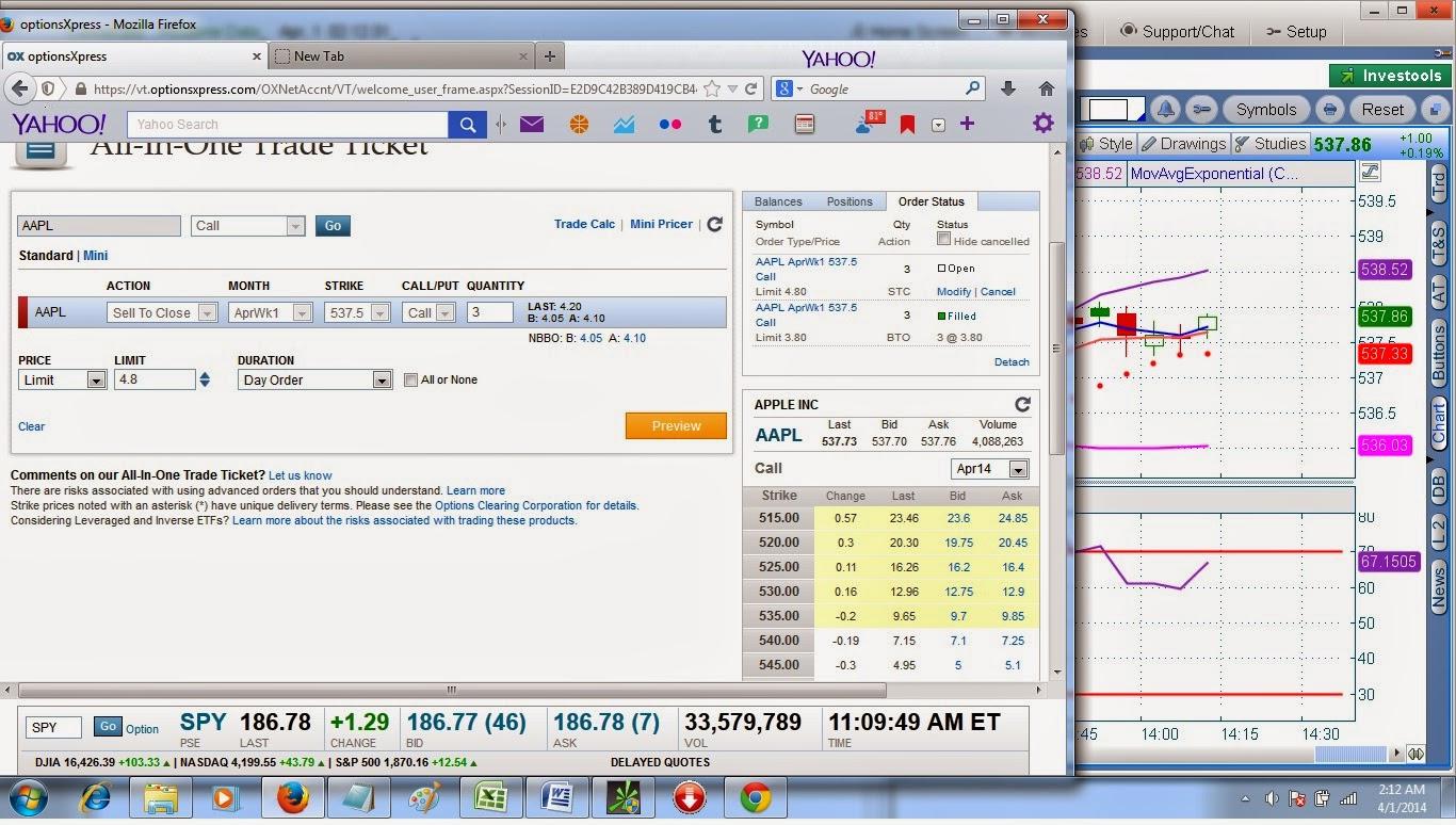 Options virtual trading game