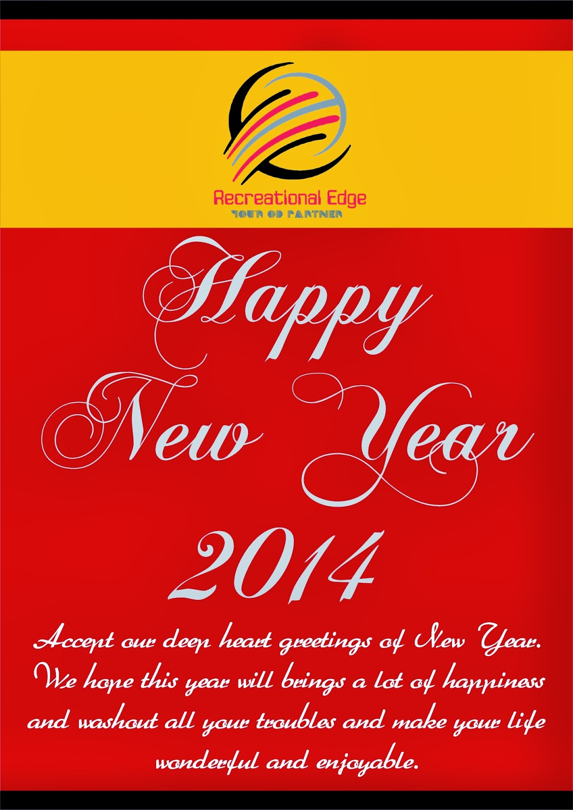 Greeting Of New Year 2014 Team Recreational Edge Recreational
