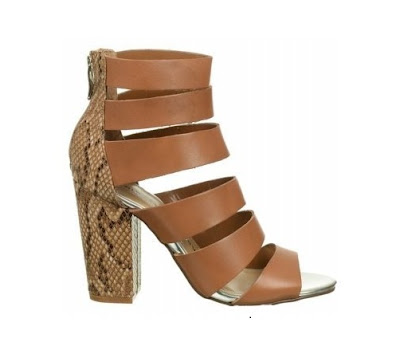 Chinese laundry brown and snakeskin chunky heels