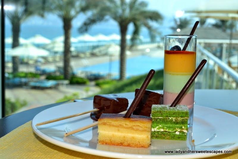 desserts at Al Murjan in Oceanic Hotel