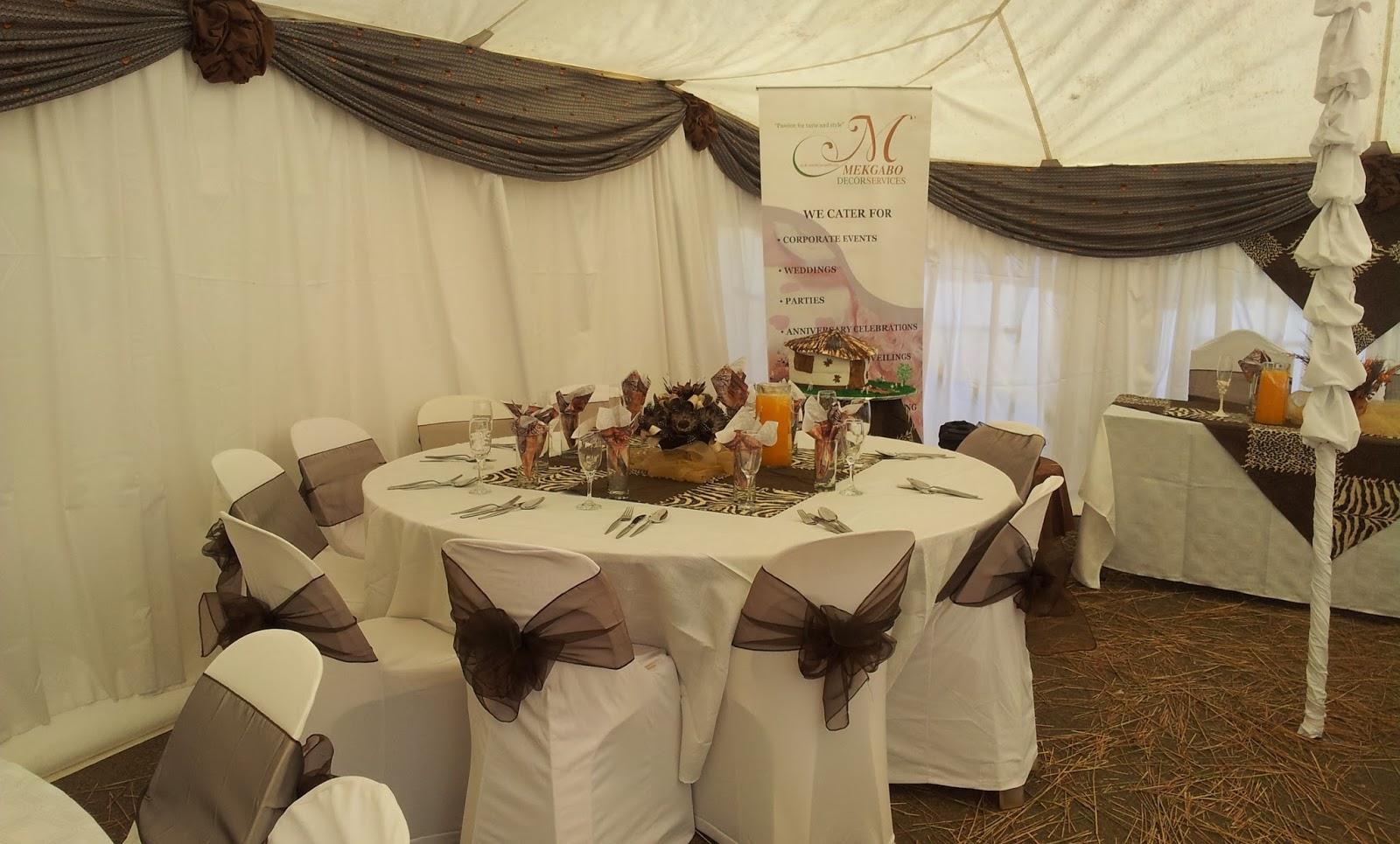 Tshepi 39 s traditional wedding mekgabo decor services for Traditional wedding decor ideas