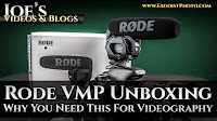 Rode VideoMic Pro (VMP) Unboxing & Why You Need This For Videography | Joe's Videos & Blogs