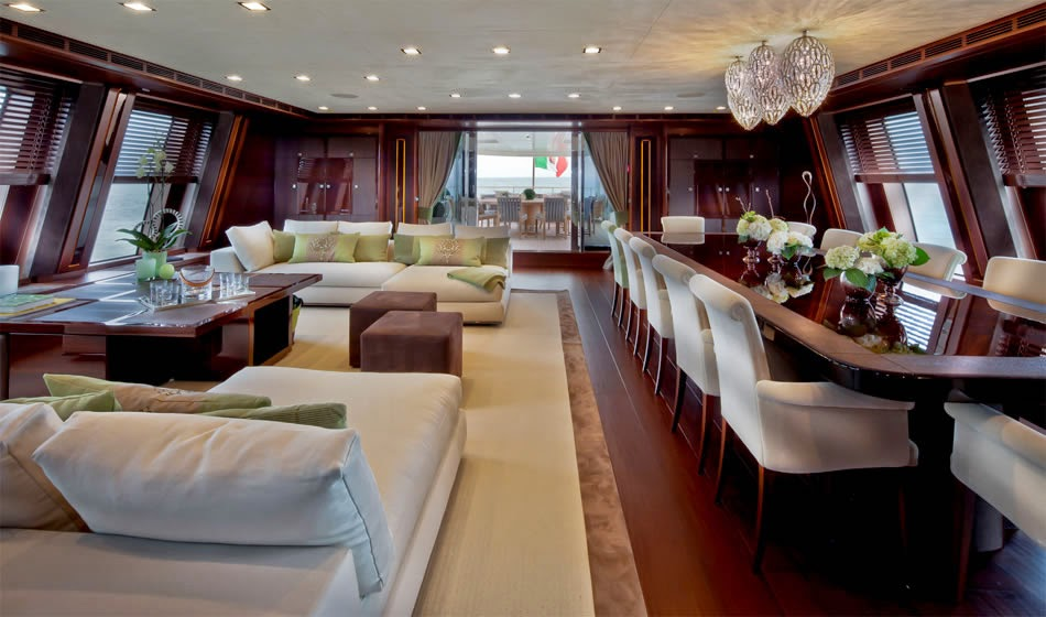 Passion for luxury j 39 ade megayacht by crn world s for Luxury garage interiors