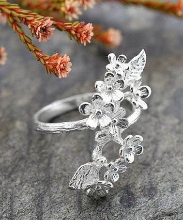 Forget Me Not Cluster Ring