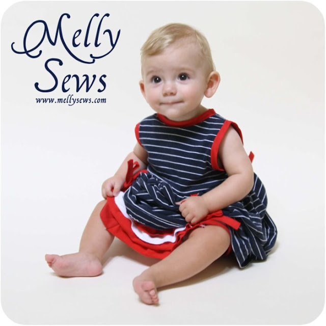 Cute Fourth of July Baby Dress Tutorial - Melly Sews
