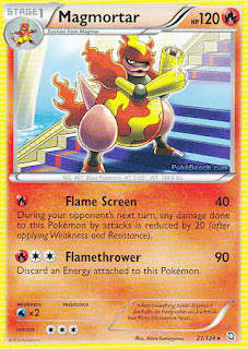 Magmortar Dragons Exalted Pokemon Card